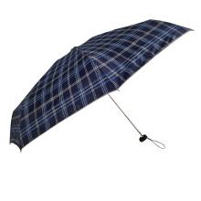 Mini Pocket kleiner 5-fach Schirm mit Tartanmuster