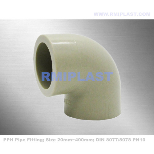 PPH Pipe Fitting 90 Elbow Socket Fusion