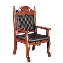 Silla de conferencia de lujo de madera maciza de estilo francés