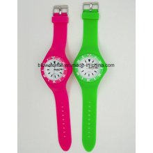 Hot Sale Analog Silicone Relógios Unisex Toy Watch Colorido