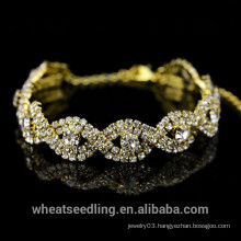 2015 New Design Gold Crystal Weave Lady Bracelet, Women Bracelet
