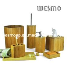 Accesorio de baño de bambú carbonizado (WBB0312A)