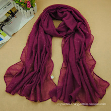 New designs solid color women turban wholesale bronzing islamic muslim hijab scarf