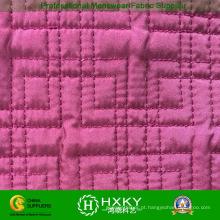 Tecido Ripstop cor-de-rosa acolchoado para vestuário acolchoado