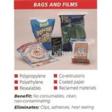 Máquina de embalagem ultra-sônica para sacos e filmes