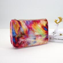 Multicolor Digital Printing Design Makeup Toiletry Bag Women Luxury Travel Bag Personalizado Neceser Rosa