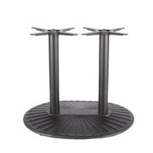Base de mesa de comedor exterior de dos patas