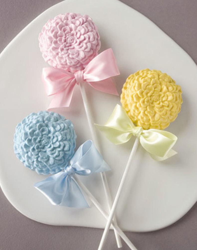 Flower Chocolate Lollipop Silicone Mold (13)