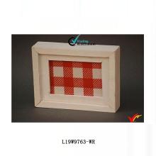 Французская шикарная белая античная деревянная коробка рамки тени