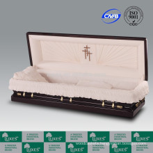 LUXES Full Couch American Style Mahogany Casket Coffin Manufacture