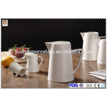 all sizes white ceramic milk jug with handle for hotel