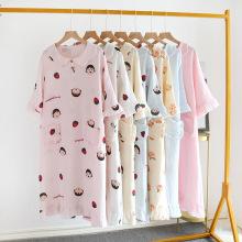 женский пуловер простой повседневный длинный пижамы домашняя одежда