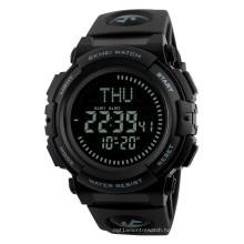 SKMEI 1290 Multifunction Compass Waterproof World Time Sports Watch for Men
