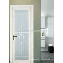Aluminium-Schwingtür mit starkem Doppelglas, moderne Design-Tür für Badezimmer