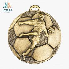 Пользовательские Спортивные Оптом Металл Бронзовый Футбол Медаль