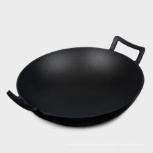 Küchenzubehör aus vorgewürztem / Pflanzenöl Gusseisen Wok