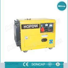Generador Diesel refrigerado por aire Set 3-12kVA con Ruedas