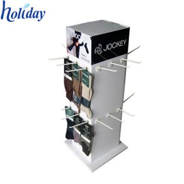 Le carton ondulé de côtés de l'Ecofriendly 4 dresse des présentoirs avec des crochets