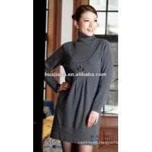 elegant women Cashmere sweater dress