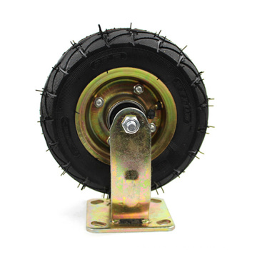8 inch heavy duty rigid plate and  inflatable casters wheel