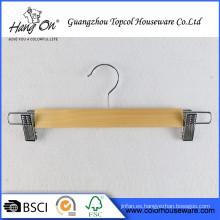 Popular diseño antideslizante fondos perchas de madera