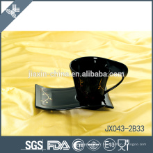043-2B33 180CC Tasse à café en céramique et soucoupe