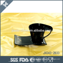 043-2B33 180CC Ceramic coffee cup and saucer