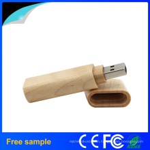 Custom Logo Recyclable Wood USB Flash Drive for Promotion Gift
