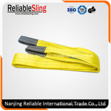 100% Polyester Eye & Eye Double Ply Flat Crane Webbing Sling for Lifting