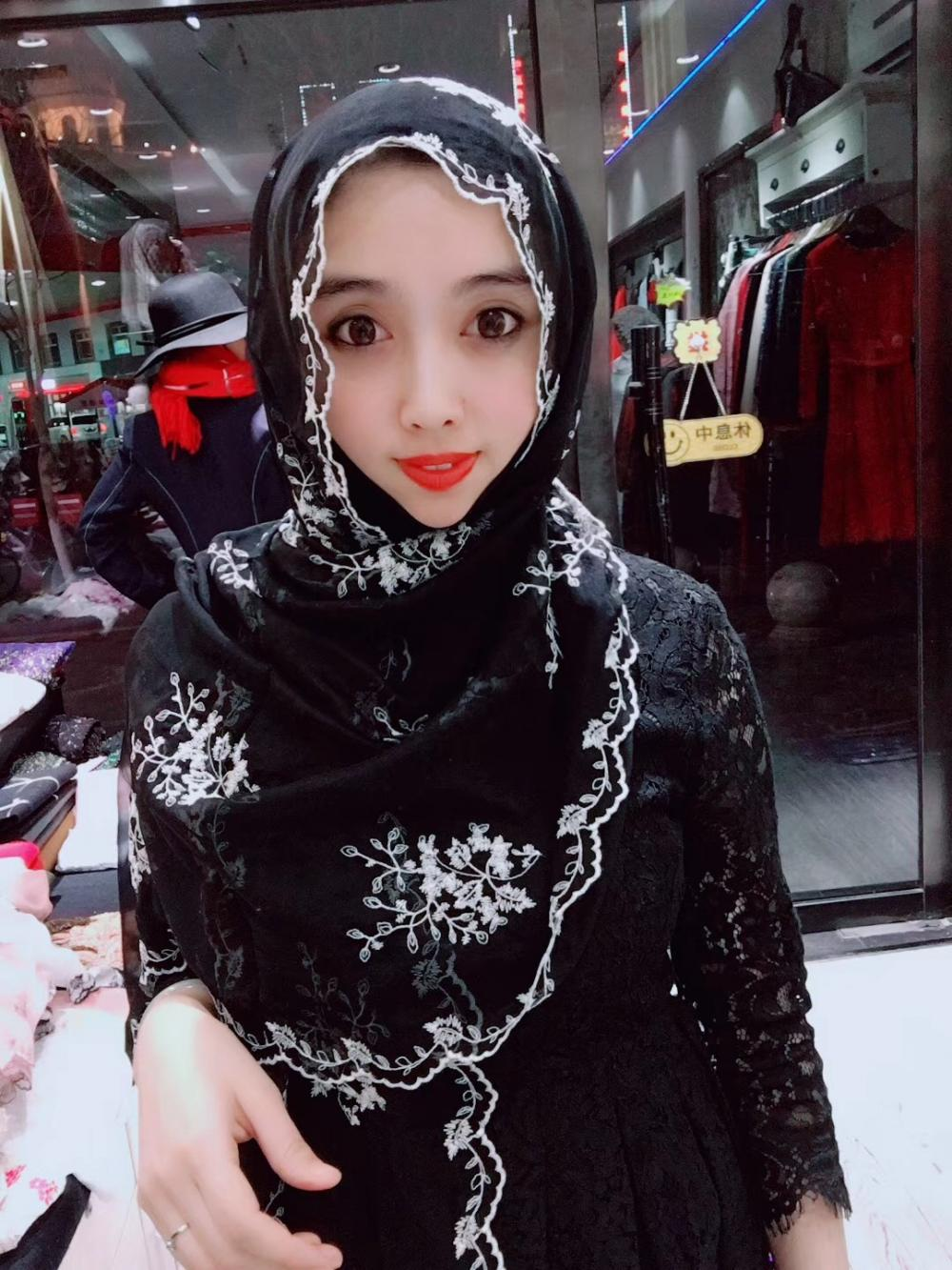 Muslim Long Black Hijab