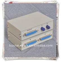 2 Port 25 Pin DB-25 Parallel Printer Sharing Switch Box