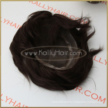"""10"""" Straight 100% Indian Remy Human Hair Toupee For Men"""