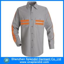 Mens camisa fabricante 100% algodão manga comprida camisa dos homens