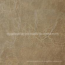 Cuero respirable de los muebles de la PU del diseño de la moda (QDL-FB0038)