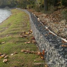 Proteção do rio 2 * 1 * 1m galvanizou a malha sextavada de Gabion