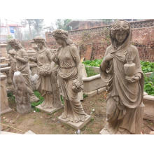 Garden Decoration Life size Antique Marble Woman Statue