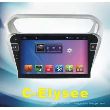 Système Android Car DVD pour C-Elysee avec navigation automobile