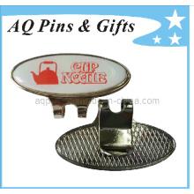 Custom Made Printed Logo Cap Clip with Ball Marker (Golf-20)