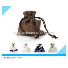 Sac à bandoulière sac portable contenant un sac à thé / Ensemble de verre
