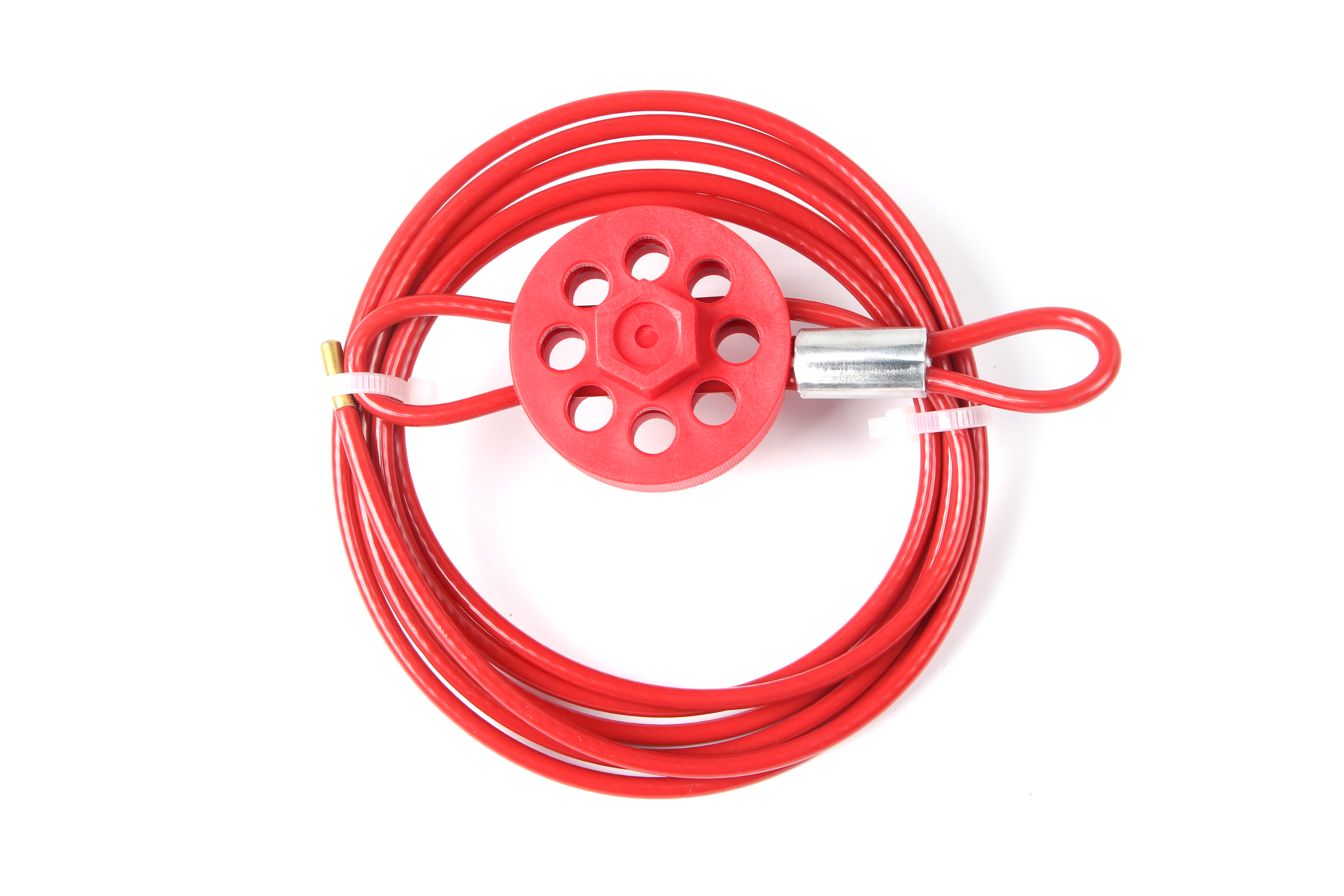 Red Coated Cable Lockout