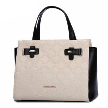 Unique Golden Crocodile Pattern PU Leather Lady Tote Handbag for Women (ZX10137)