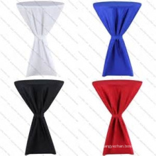 elegant lycra spandex round cocktail table cloth for wedding wholesale table linen