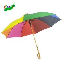 Stick Damen Regenbogenfarben Holzschirme, 8farbig der neue Taiwan Regenbogen Regenschirm Hut