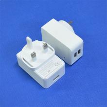 Adaptador del cargador de la energía del puerto del USB 5V 3A - enchufe BRITÁNICO
