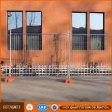 Fácil montaje anti-óxido de acero galvanizado cerca temporal para la venta