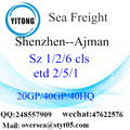 Shenzhen Port Sea Freight Shipping ke Ajmen