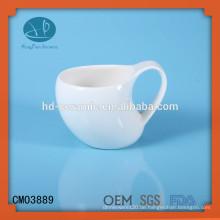 Keramik-Becher, stilvoller Becher, spezieller Becher, kundengebundener Becher, weißer keramischer Becher
