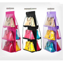 High Quality PVC and No-Woven Hanging Foldable Bags Organizer