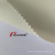 Tecido para proteção do sol em solução de polipropileno tingido com fio tecido externo