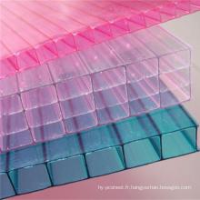 Le polycarbonate de lucarne couvre 10 ans de garantie de différentes couleurs
